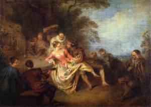 Jean-Baptiste Pater - Gathering of Actors of the Comédie-Italienne in a Park