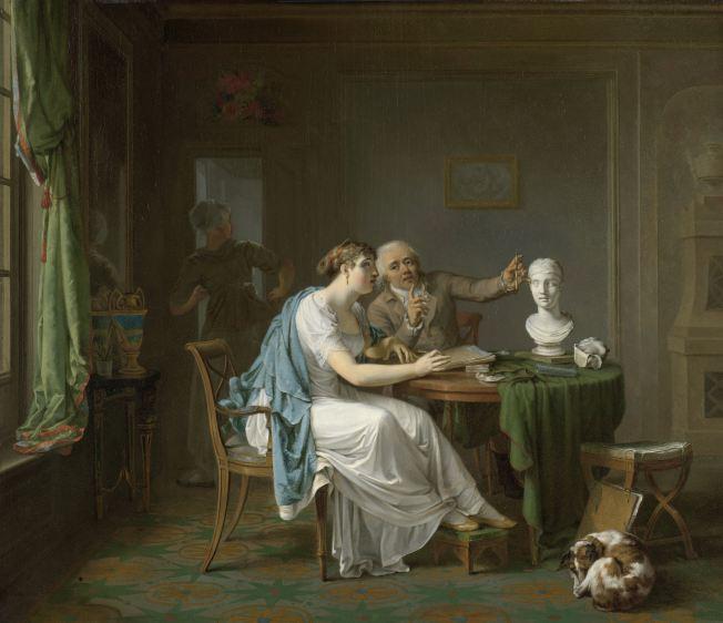 De_tekenles_door_Louis_Moritz_(1773-1850)