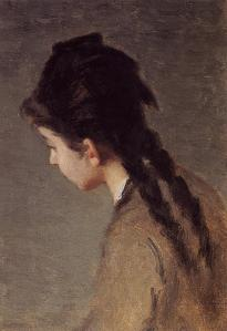 Eva_Gonzalès_-_Portrait_of_Jeanne_Gonzales_in_Profile