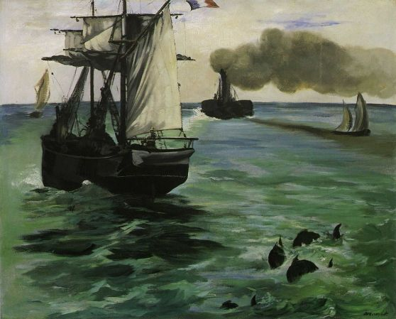 The_Steamboat,_Seascape_with_Porpoises,_by_Édouard_Manet