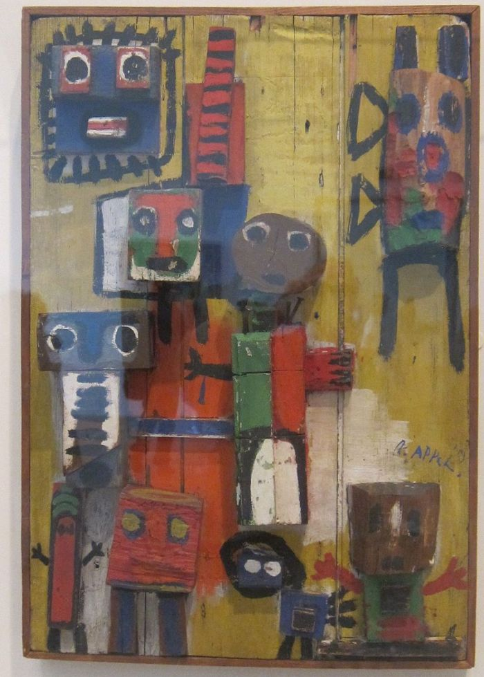 800px-'Questioning_Children'_by_Karel_Appel,_Tate_Modern