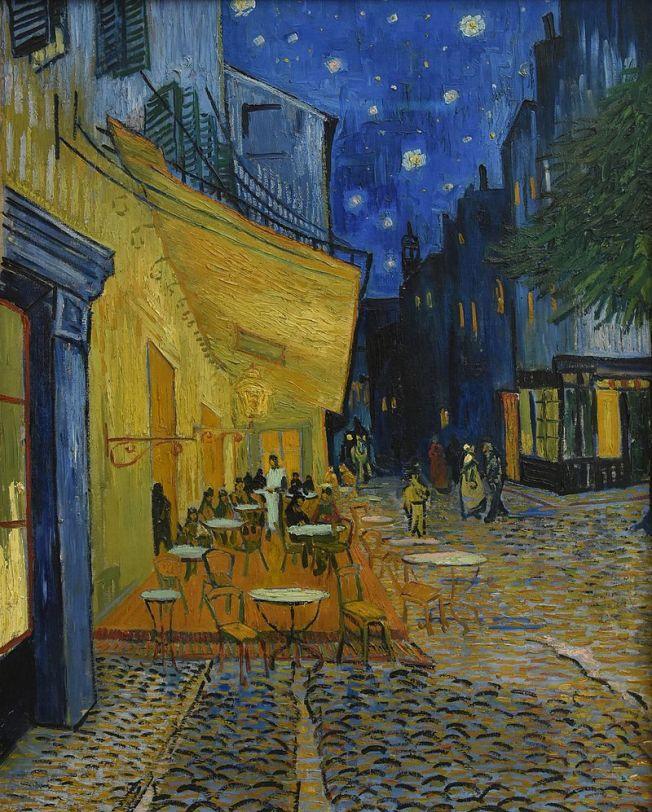 Vincent_van_Gogh_(1853-1890)_Caféterras_bij_nacht_(place_du_Forum)_Kröller-Müller_Museum_Otterlo_23-8-2016_13-35-40