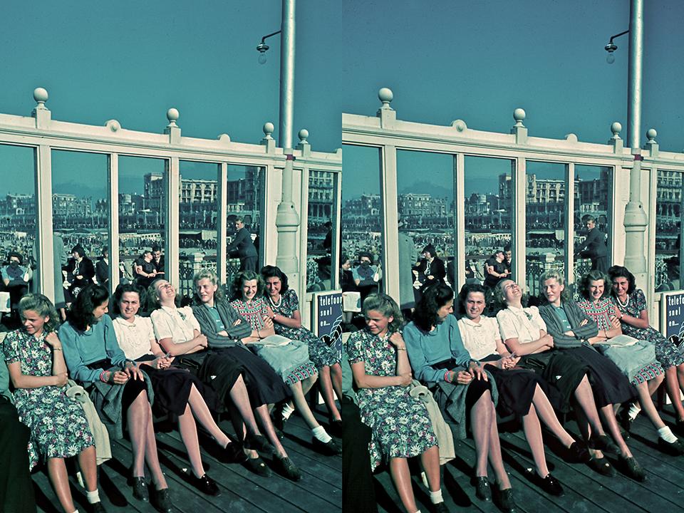 op-de-pier-van-scheveningen-in-1941-wim-berssenbrugge-agfacolor-24-x-36-mm-stereo-paar-b-80-collectie-haags-historisch-museum