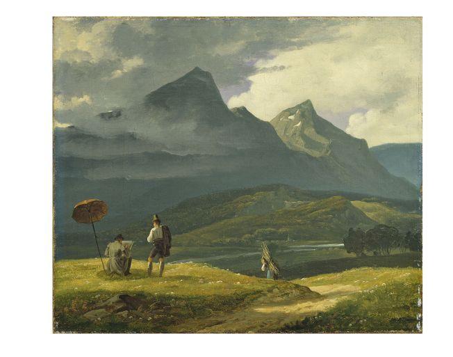 Wilhelm Bendz Berglandschap