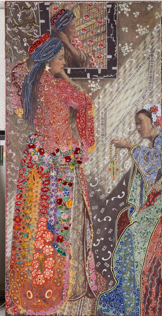 7. Barbara Broekman, On Victorian and Oriental Women nr. 6, 262 x 130 cm.jpg