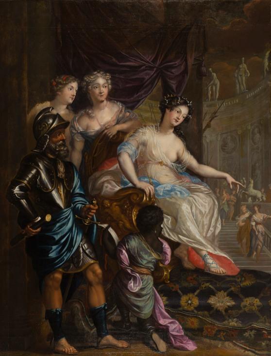 Augustinus en Mattheus Terwesten, Dido op de troon met bedienden - na restauratie.jpg