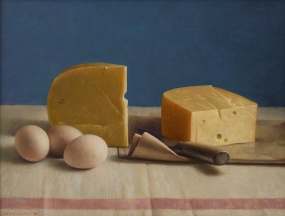 Henk Helmantel, Stilleven met kaas en eieren, 1987, Collectie Museum MORE