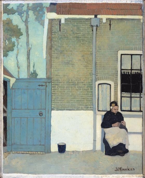 Jan Mankes, Vrouw voor haar huis, 1914, Rijksmuseum Amsterdam