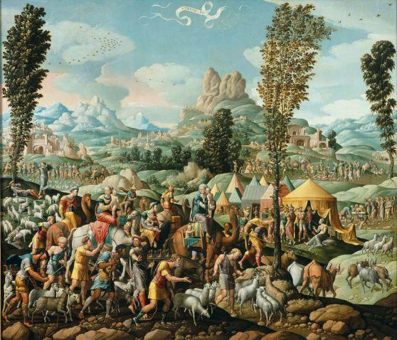 Medium-Cornelis Cornelisz. Buys II, Jacob trekt bij Laban weg - Jacob flees from Laban, circa 1535, Stedelijk Museum, Alkmaar