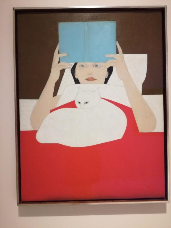 Woman reading 1965 Will Barnet