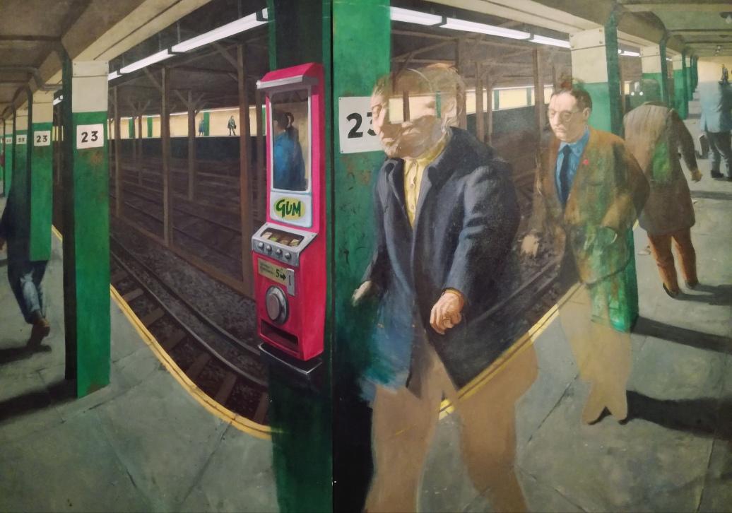 Robert Birmelin, A subway experience, 1966