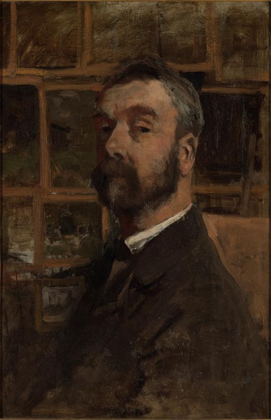 Zelfportret Anton Mauve ca. 1884-1888, olieverf op doek, 65 x 43 cm. Gemeentemuseum Den Haag, Schenking Vrienden van het Gemeentemuseum Den Haag