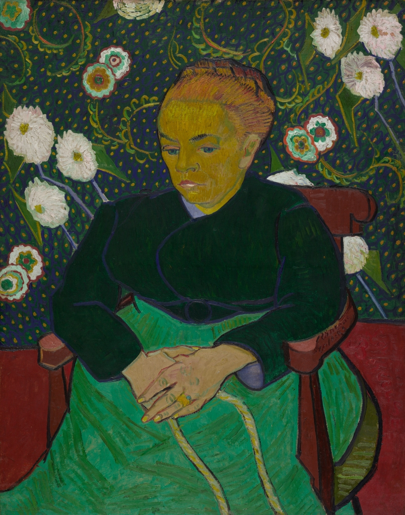 La berceuse (Madame Roulin) Vincent van Gogh 1889, olieverf op doek, 92,7 x 73,8 cm. The Art Institute of Chicago, Helen Birch Bartlett Memorial Collection