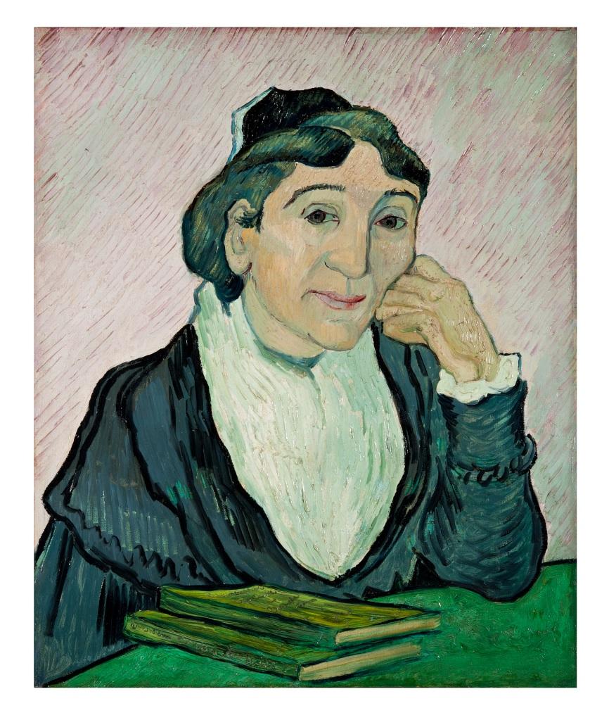 L'Arlésienne (Madame Ginoux) Vincent van Gogh februari 1890, olieverf op doek, 60 x 50 cm. Galleria Nazionale d'Arte Moderna e Contemporanea, Rome. Met toestemming van Ministero per I Beni e delle Attività Culturali